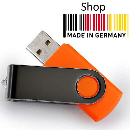 USB Stick Swivel Twister Orange / Schwarz 2.0