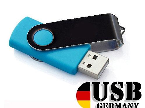 USB Stick Swivel Twister SkyBlue / Schwarz 2.0