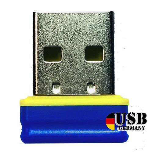 P1 USB Stick Blau Gelb