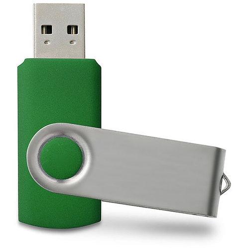 USB Stick Swivel Twister Dunkel-Grün 2.0