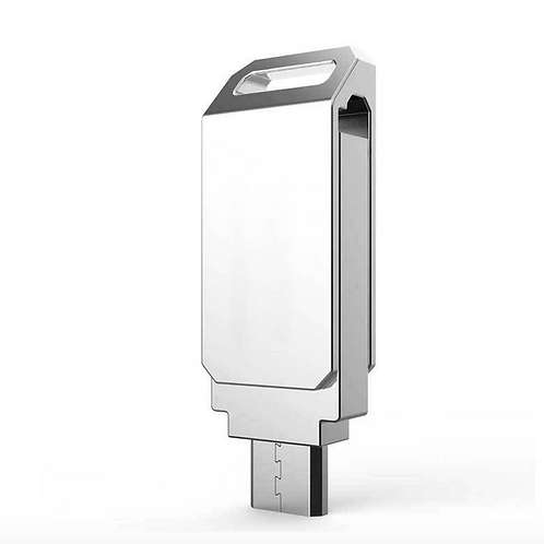 OTG - Flat USB Stick Silber 64GB