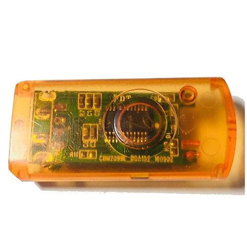 Orange Transparent Halbschale für USB Stick Swivel / Twister