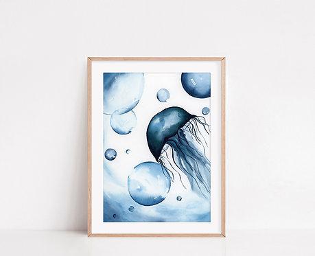WALLTHINKS Jelly Fine Art Baskı