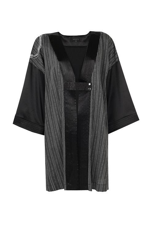 SOUL SPİRİTZ Goro Nuovo Omuzu Nakış Detaylı Kimono