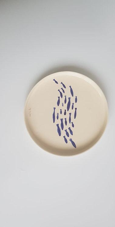 Mercan Ceramic Deniz- Mavi Balık Tabak