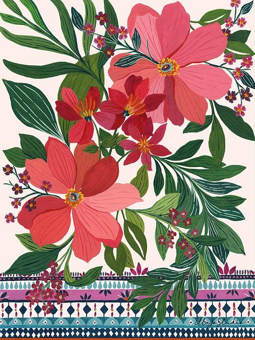 EllaJo Patterned Flowers Illüstrasyon