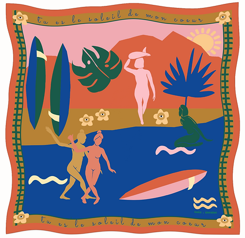 SOIE-MEME Surf Koton Fular