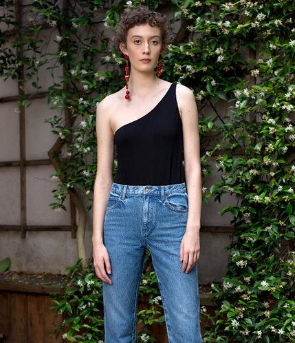 A HİDDEN BEE Yüksek Bel Straight Kesim Jeans
