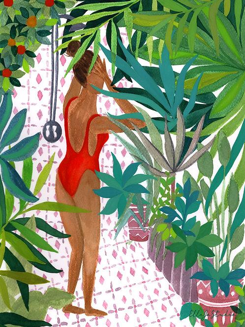 EllaJo Jungle Shower Illüstrasyon