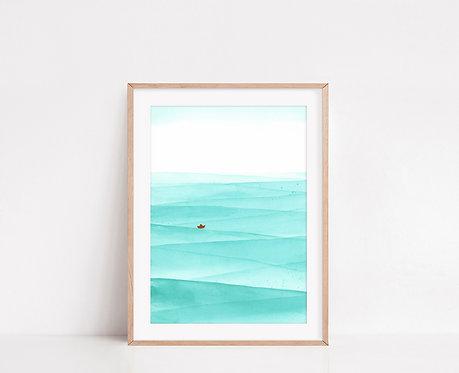 WALLTHINKS Wave Fine Art Baskı