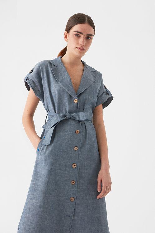 GİYİ No3. Organik Denim Elbise
