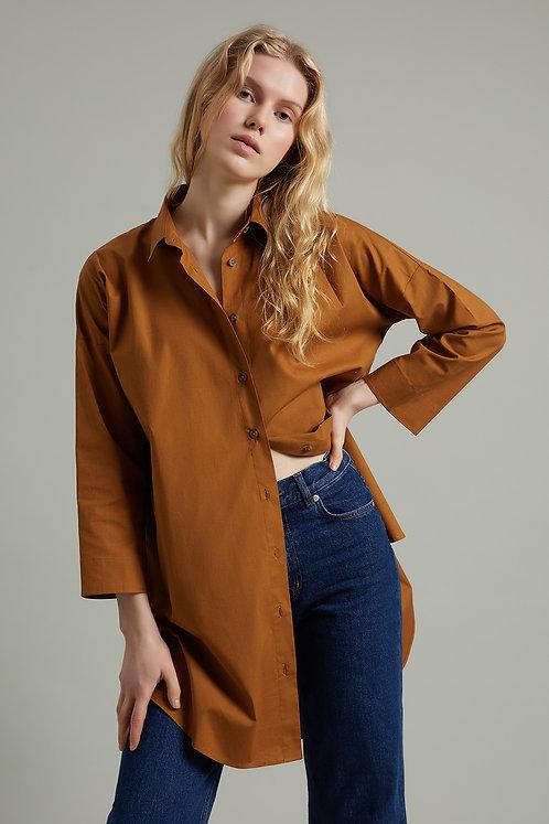 HARMONIOUS Oversize 100% Pamuklu Gömlek Elbise