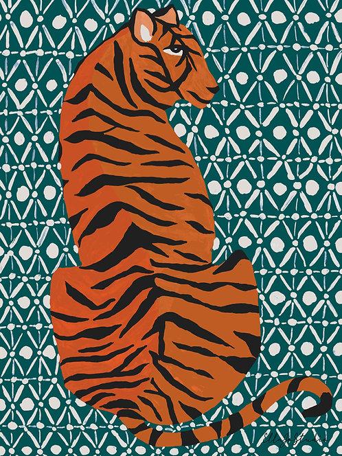 EllaJo Studio Patterned Tiger Illüstrasyon