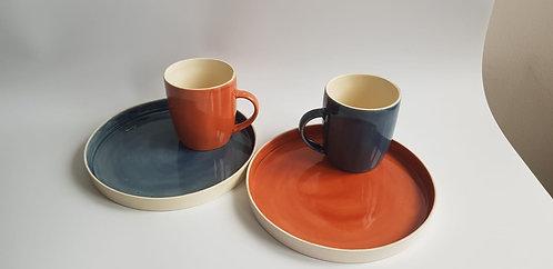 Mercan Ceramic Simple Terra Cotta Tabak