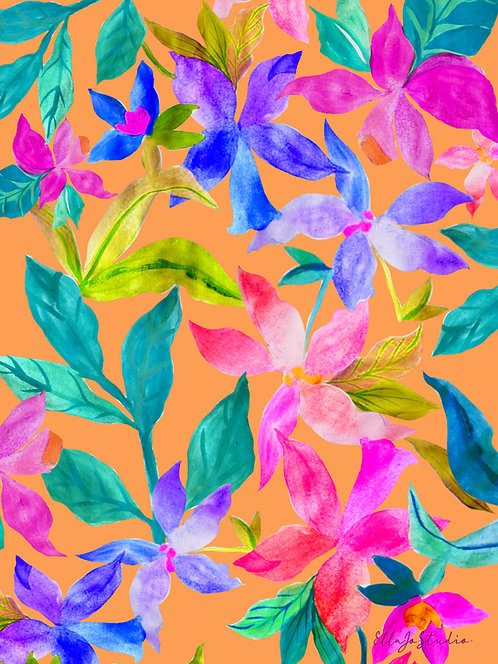 EllaJo Bold Flowers Illüstrasyon