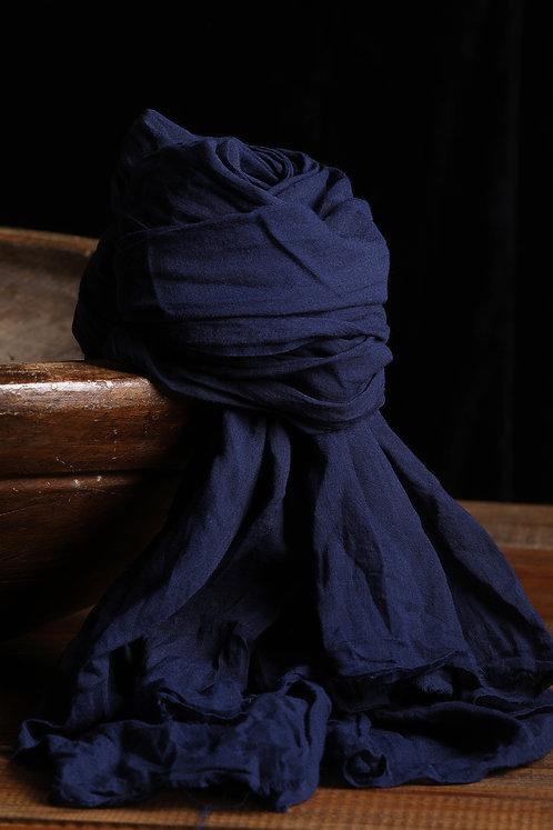 HARMONIOUS Organik Pamuk Handmade Şal Midnight Blue