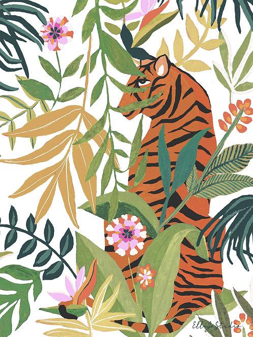 EllaJo Studio Tropical Tiger Illüstrasyon