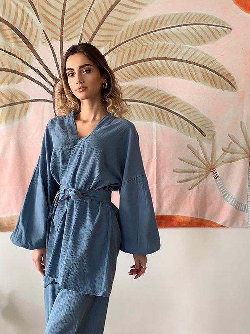 CHILLAX Alice Mavi Kimono