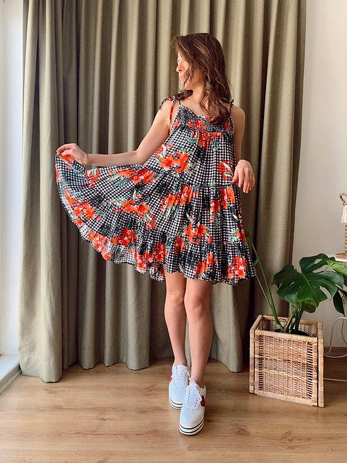 CHILLAX Sundress Çiçek Desenli Elbise