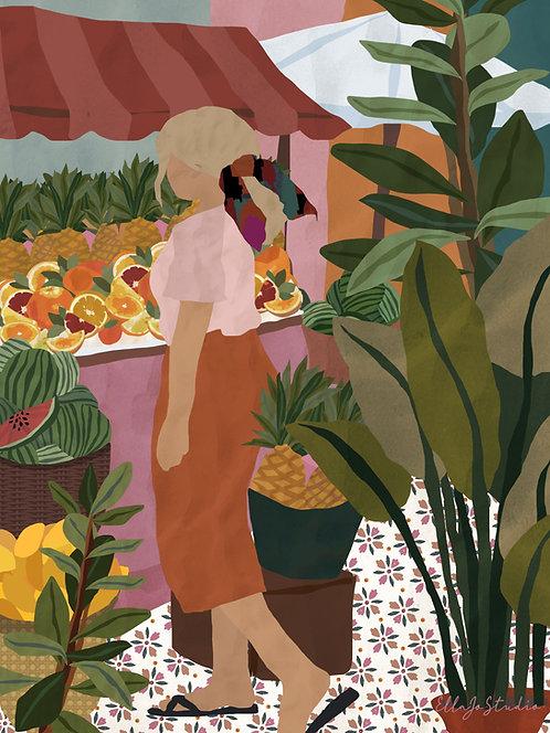 EllaJo Fruit Market Illüstrasyon