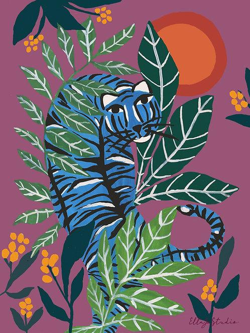 EllaJo Jungle Tiger Illüstrasyon
