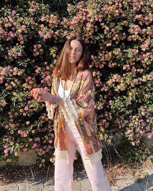 CHILLAX Safari Zebra Kimono