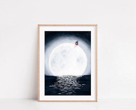 WALLTHINKS Sail Fine Art Baskı