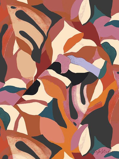 EllaJo Studio Summer Abstract Illüstrasyon