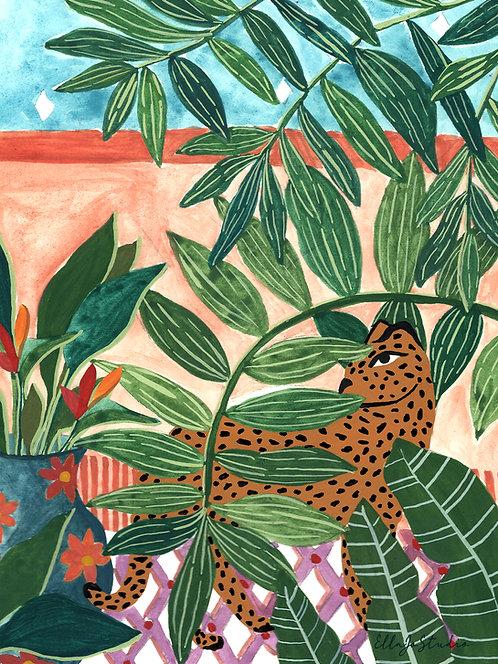 EllaJo Studio Shy Leopard Illüstrasyon