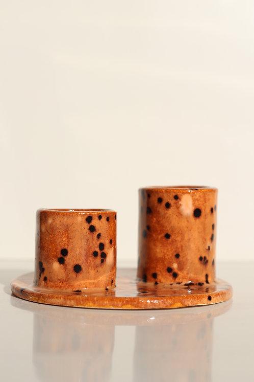 MUUMART Ceramic Çift Mumluk