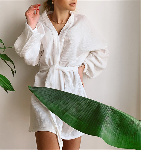 CHILLAX Alice Beyaz Kimono