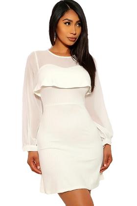Overlay White Dress