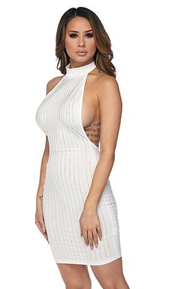 Highneck Sleeveless Dress