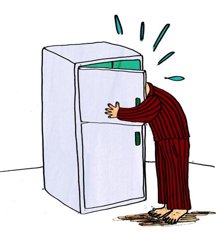 Do you ever stand in your freezer door?