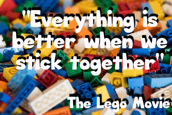 Let's Play Legos AND Build Each Other UP