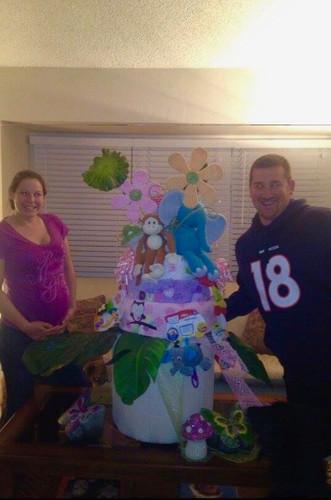 Jungle Themed Diaper Cake