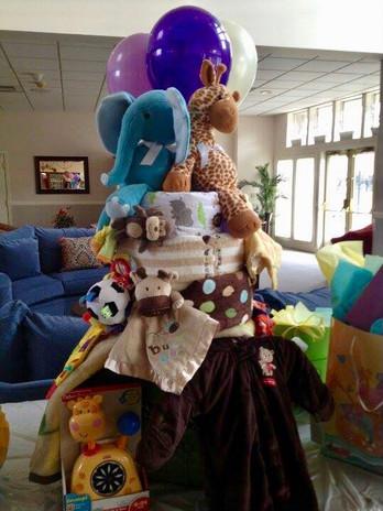 Giraffe Themed Diaper Cake