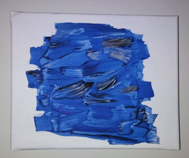 Blue Abstract (acrylic on canvas)