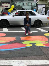 Lead Artist in Street Mural
