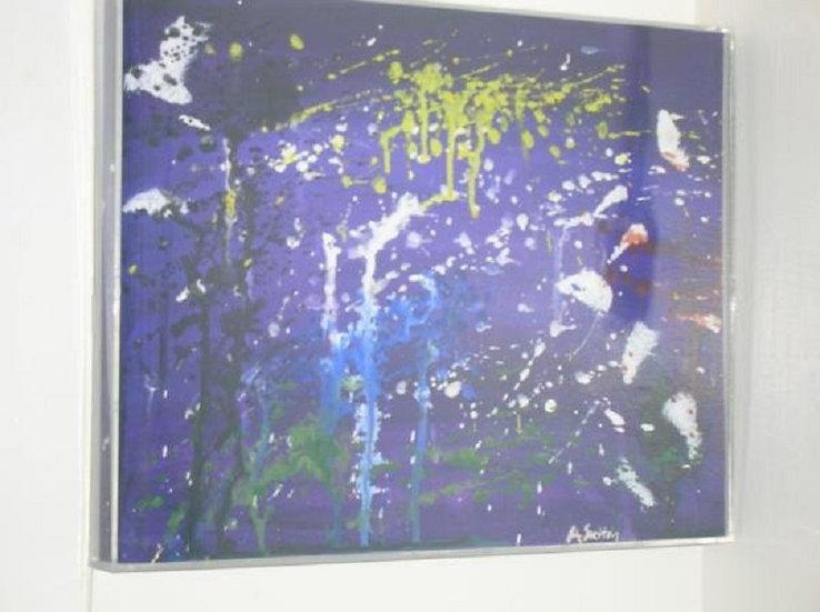 """Splatter"" wall decor"