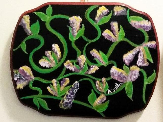 """Purple Vines"" wall decor"