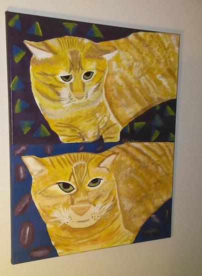 """Here Kitty!"" wall decor"