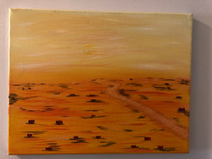 Yellow Desert (acrylic on canvas)