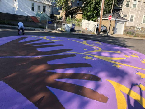 Street Mural by Adina for Holmes Elementary School