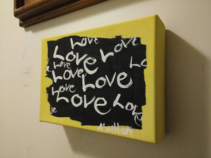 """All About Love"" wall decor"