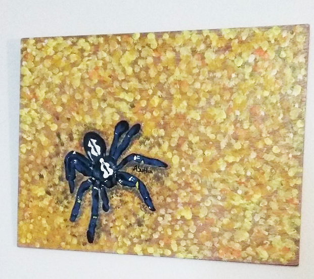 """Blue Tarantula"" wall decor"