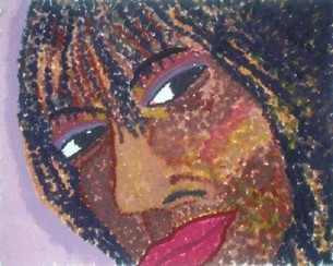 Gouache Pointilism painting