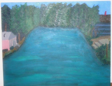 Acrylic on Canvas landscape painting