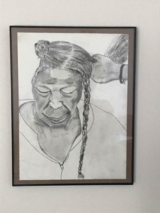 Charcoal Drawing - 19th Century sharepcropper series