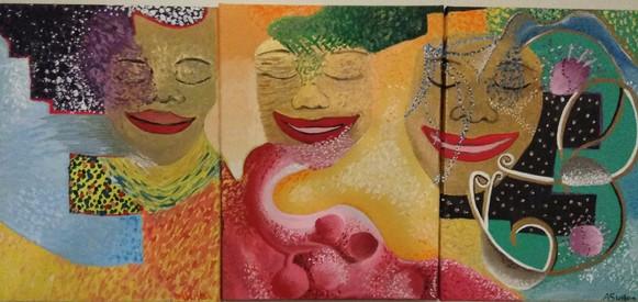 3 Panel Acrylic Abstract
